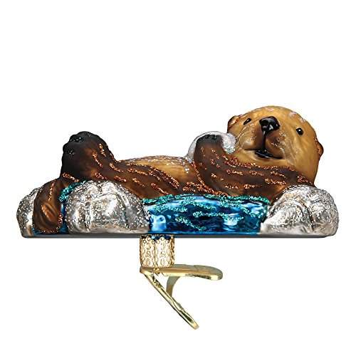 Old World Christmas Floating Sea Otter, 4.25″