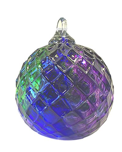 Glass Eye Studio Jeweled Tone Cobalt Emerald Purple Diamond Classic Ornament