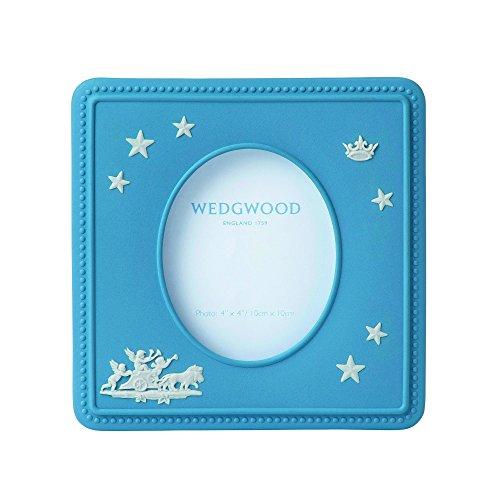Wedgwood Jasperware Picture Frame – Pale Blue Boy – 4″ x 4″