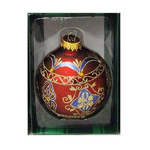 Kurt Adler Ornaments GG0439-E Color Jewel Ball Ornament