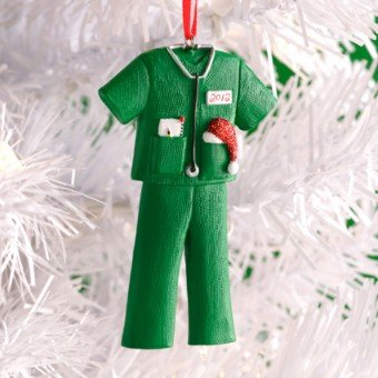 Hallmark 2012 Christmas DIR844 2012 Holiday Scrubs Ornament