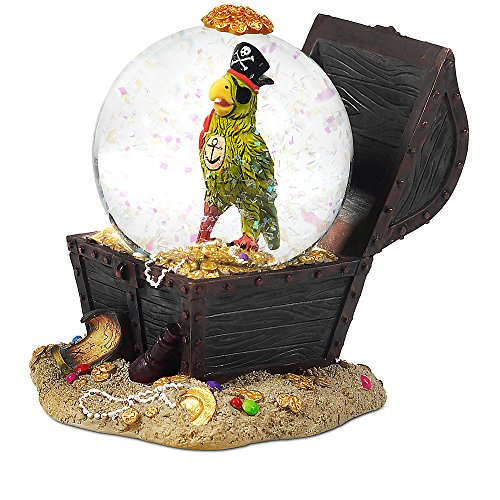 Disney Pirates of the Caribbean Parrot Snowglobe