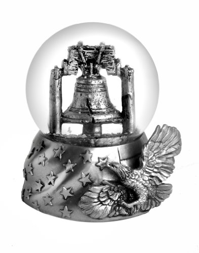 Liberty Bell Silver Mini Snow Globe 45mm
