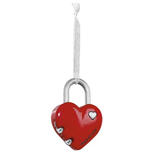 Hallmark Keepsake Anniversary Heart Lock Ornament
