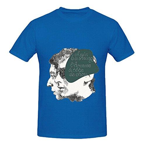 Alain Bashung Lhomme Tte De Chou Tracks Mens O Neck Art Tee Shirts Blue