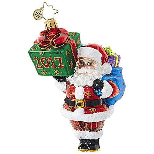 Christopher Radko Wrapping Up the Year Brilliant Treasure Christmas Ornament