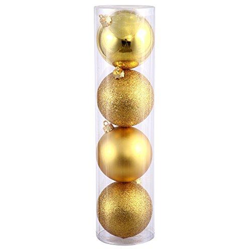 Vickerman 275″ Gold 4 Finish Ball Ornament 20 per Box