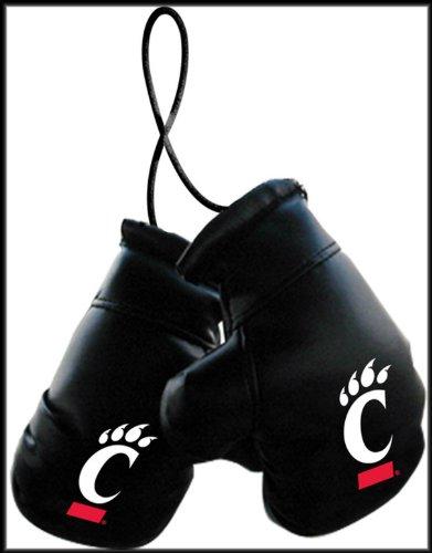 NCAA University of Cincinnati Bearcats Logo 4″ Mini Boxing Gloves Rearview Mirror Auto Ornament