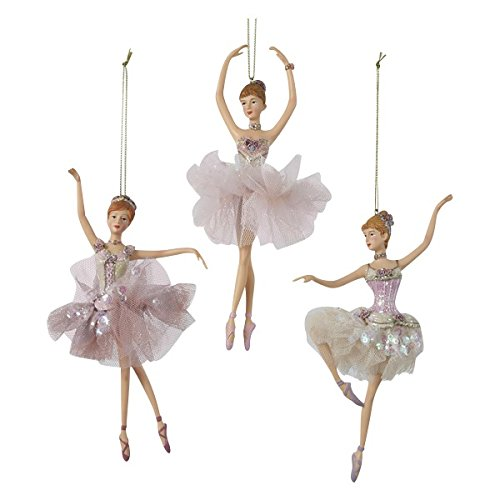 Kurt Adler 6.5″ Resin Ballerina Ornament 3/asstd