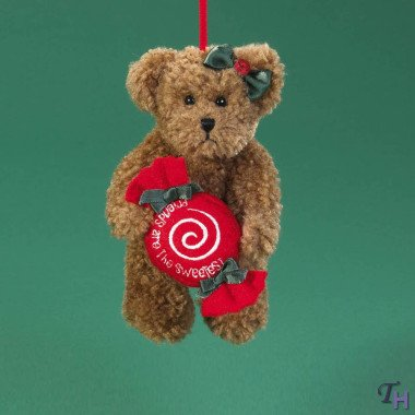 Sweets by Boyds Bears 5″ Hanging Ornament (Bears from the Heart Thinkin of Ya Holiday Collection)