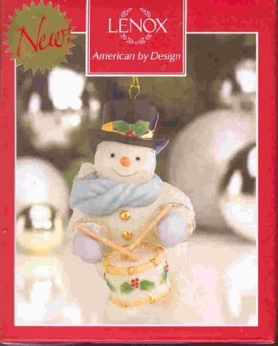 LENOX SNOWMAN WITH DRUM ORNAMENT