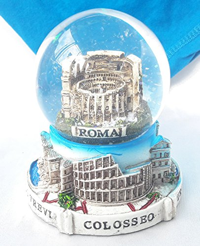 Italiano Souvenir Snowdome Italy Snowglobe Rome Colosseum Italia 9.5cm