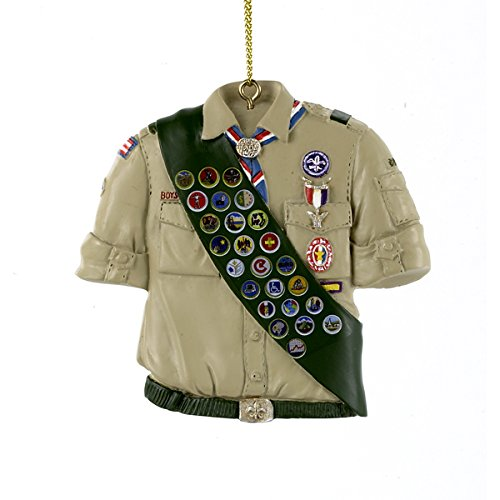 Kurt Adler 3″ Resin Boy Scouts OF America Shirt W/sash Ornament