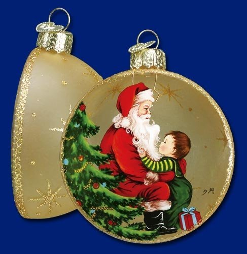 Old World Christmas – Visit With Santa – Inside Art Ornament
