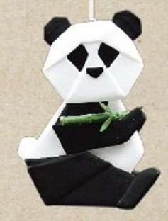 One Hundred 80 Degrees Porcelain Panda Ornament