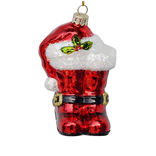Kurt Adler 4.25″ Noble Gems Glass Santa Boots Ornament
