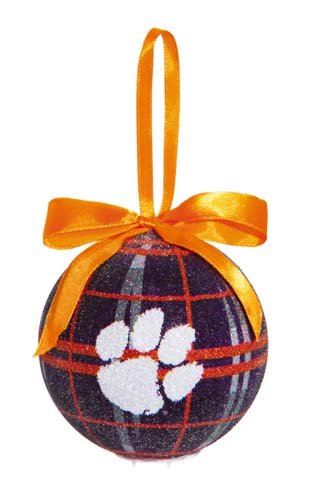 100mm LED Ball Ornament, Clemson University