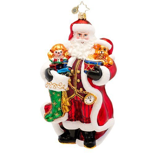 Christopher Radko a Christmas Classic Glass Santa Christmas Ornament – New for 2014 – 6.5″h. – 1017263