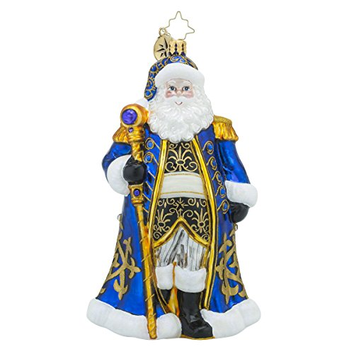 Christopher Radko Midnight Majesty Santa Claus Christmas Ornament