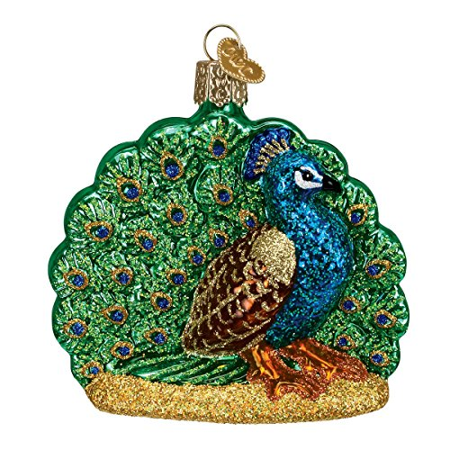 Old World Christmas Proud Peacock Glass Blown Ornament