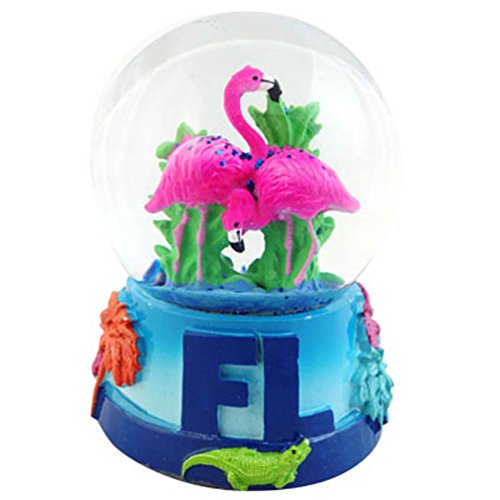 Florida Flamingo Snow GLobe 65mm
