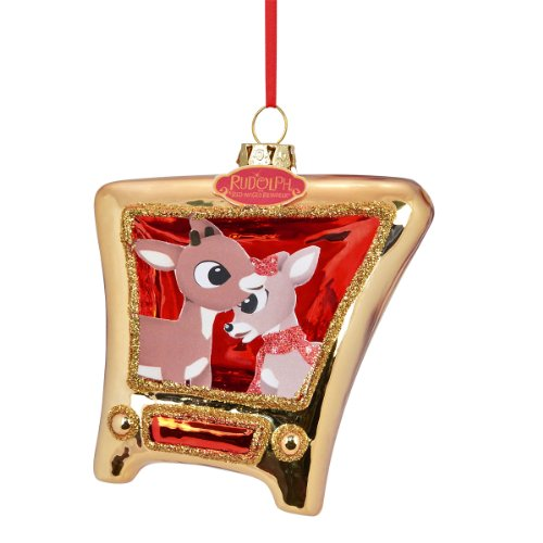 Department 56 Rudolph Clarice and Rudy Tv Ornament, 4.5-Inch