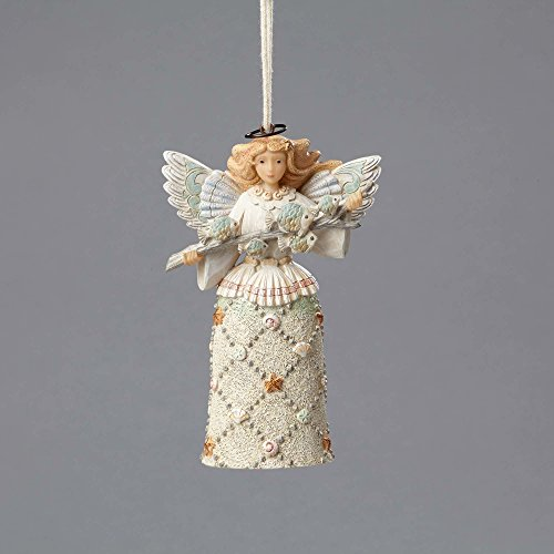 Enesco River's End by Jim Shore Coastal Angel w/Fish Ornament