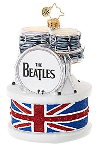Christopher Radko Ringo Drum Set The Beatles Glass Ornament