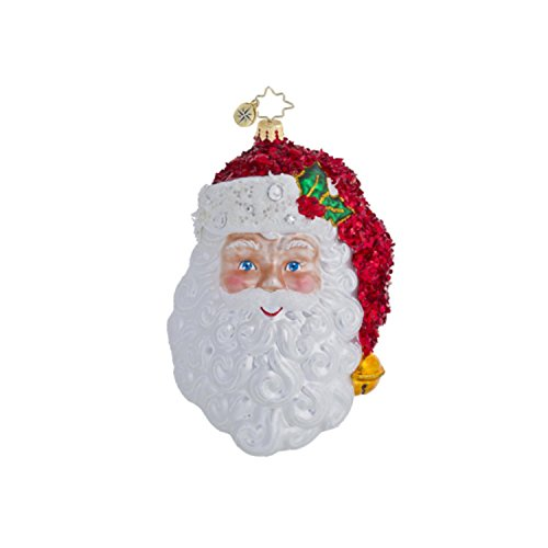 Christopher Radko Glass With a Smile and a Wink Santa Christmas Ornament 1016446