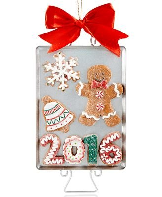 Holiday Lane 2016 Gingerbread Cookie Sheet Ornament