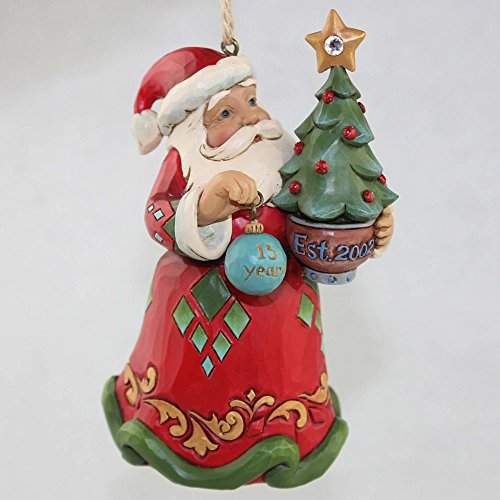 Enesco Jim Shore Heartwood Creek 15th Anniversary Santa w/Tree Ornament