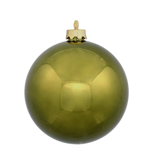 Vickerman 60 Count Shiny Olive Green Shatterproof Christmas Ball Ornaments, 2.5″
