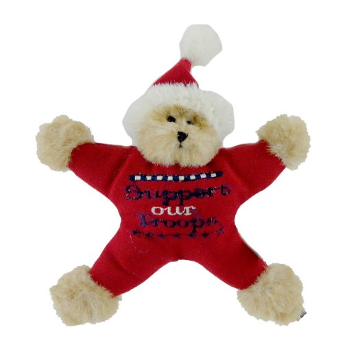 Boyds Bears Plush TROOPS STAR BEAR ORNAMENT 562781 Patriotic Santa New