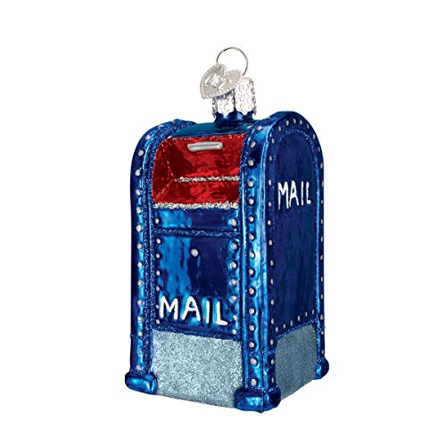 Old World Christmas Mail Box Glass Blown Ornament
