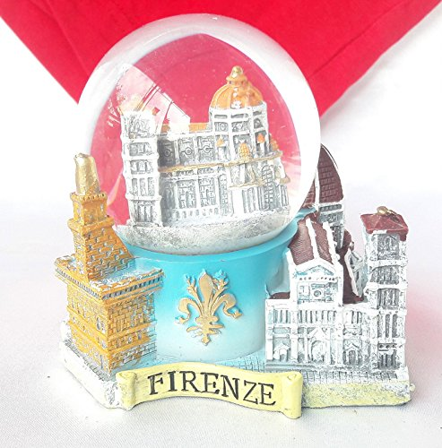 Souvenir Snowdome Italy Snowglobe Florence Cathedral Santa Maria Firenze S-90mm