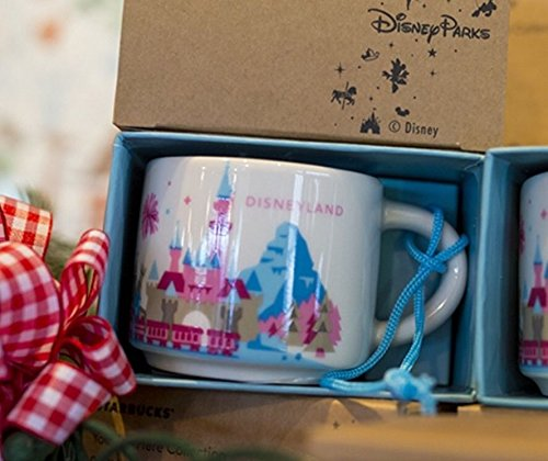 Disney Parks 2015 Starbucks Holiday Ornament Disneyland You Are Here 2 Oz