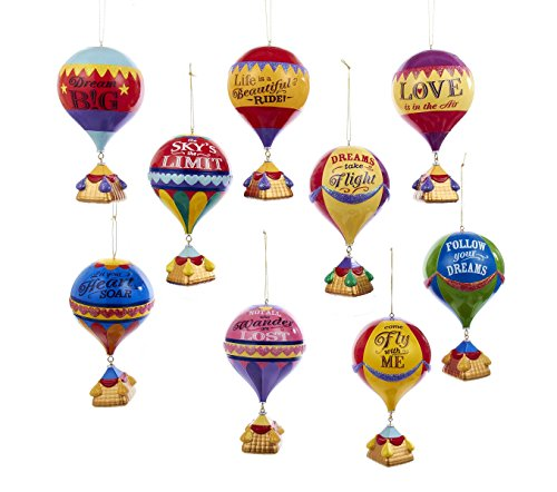 Kurt Adler 5.25″ Hot Air Balloon Ornament 9/asstd
