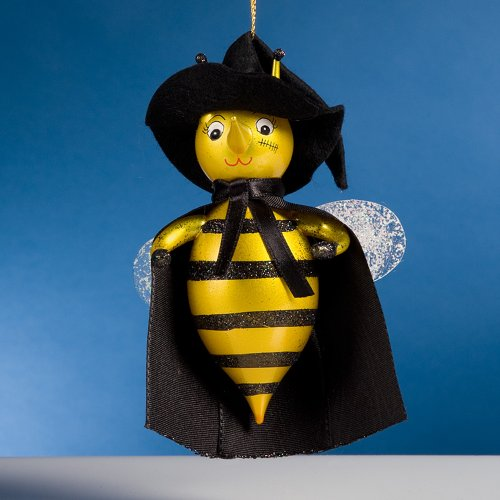 De Carlini Halloween Bee Italian Mouthblown Glass Christmas Ornament