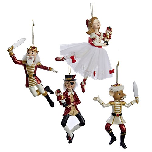 POLYRESIN NUTCRACKER SUITE ORNAMENT, SET OF 4 ASSORTED – Christmas Ornament