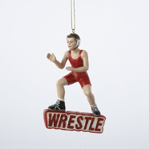 Boy Wrestler Sports Christmas Ornament