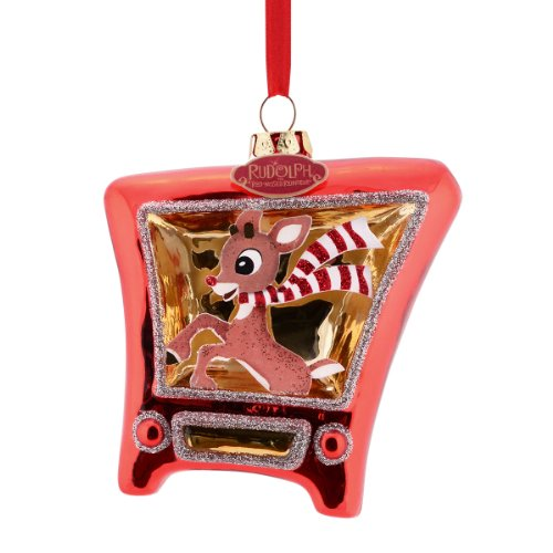 Department 56 Rudolph Rudolph TV Ornament, 4.5-Inch