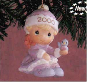 Precious Moments 2000 Baby's 1st Christmas-Girl #730092