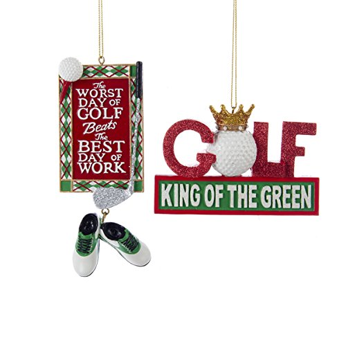 Kurt Adler 4″-5.25″ Resin Golf Ornament Set of 2