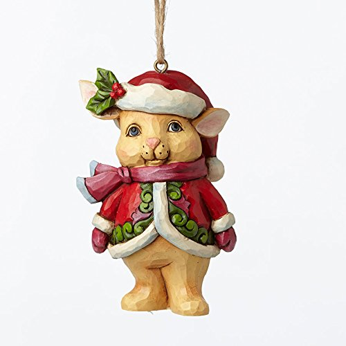 Jim Shore Heartwood Creek, Christmas Bunny Mini Ornament