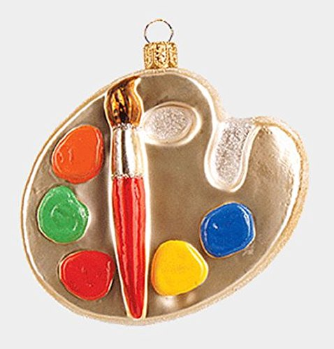 Painter's Paint Palette Polish Glass Christmas Tree Ornament Painting Decoration