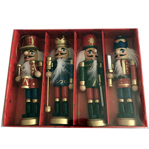 CDL 5-Inch Wooden Nutcracker Ornament sets in various designs and quantity (S19)