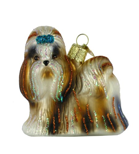 Old World Christmas Shih Tzu Glass Blown Ornament