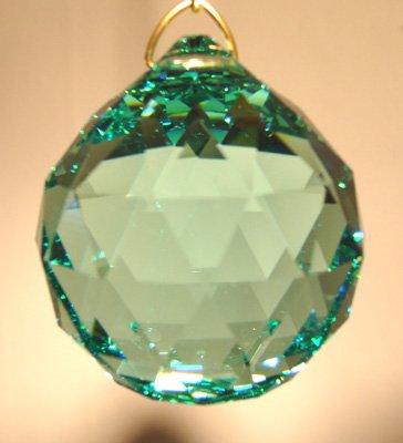 Swarovski 20mm Seafoam Green Crystal Faceted Ball Prism