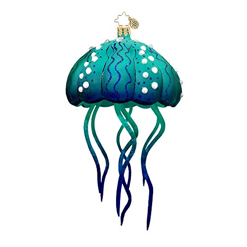 Christopher Radko Moon Jelly Blue Button Jellyfish Surf & Sun Christmas Ornament – EXCLUSIVE