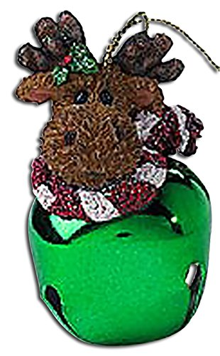 Boyds Green Kringle Bell Moose Ornament